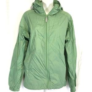 COLUMBIA Full Zip Green Windbreaker Jacket ~sz XL